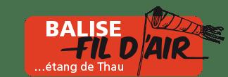 balise fildair : vent sur l'etang de thau