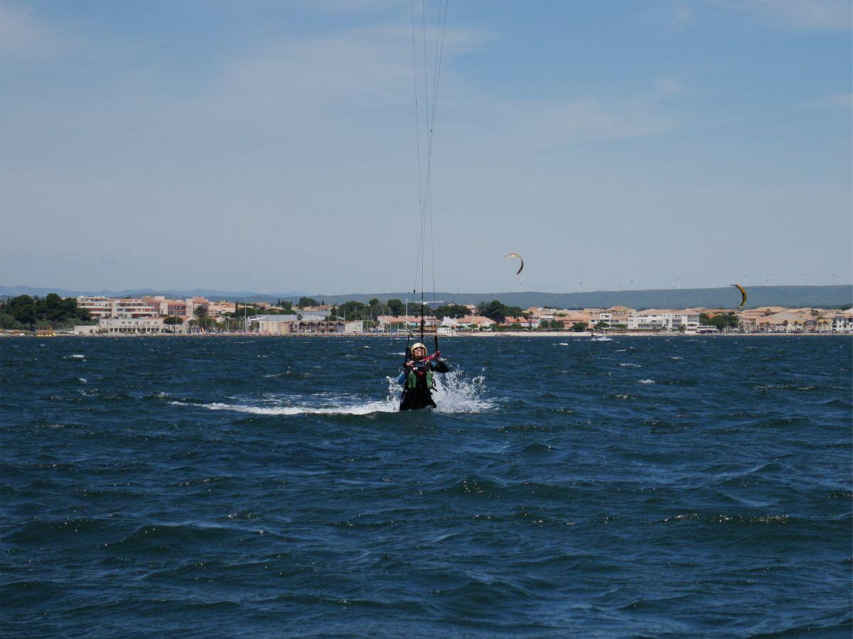 Nage tractée kitesurf