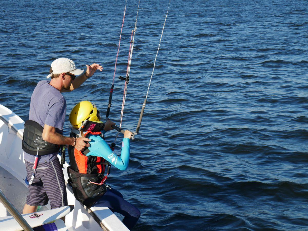 Kitesurf apprendre et remonter en bateau