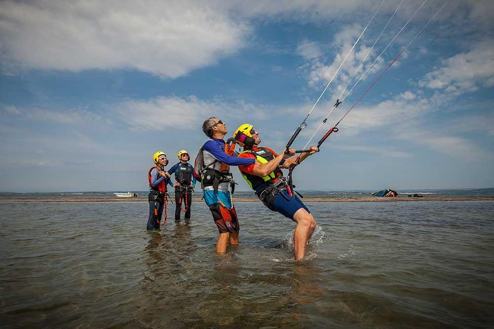 Pilotage kite sur des bancs de sable