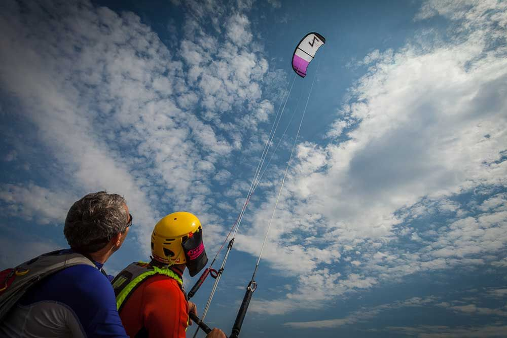 kitesurf pilotage
